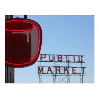 Pike-Platz-allgemeiner Markt Postkarte