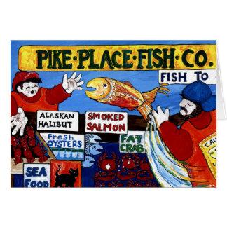 Pike-Platz-Fische Co. Grußkarte