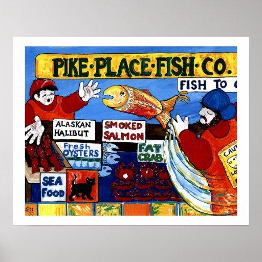 Pike-Platz-Fische Co. Plakate