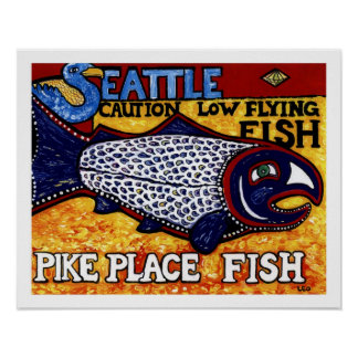 Pike-Platz-Fische Poster