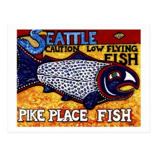 Pike-Platz-Fische Postkarten