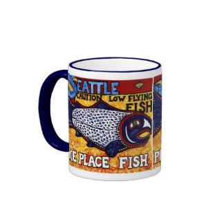 Pike-Platz-Fische Ringer Tasse