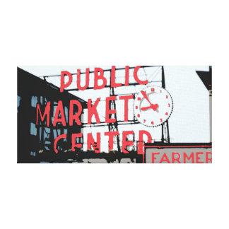 Pike-Platz-Markt Gespannter Galerie Druck