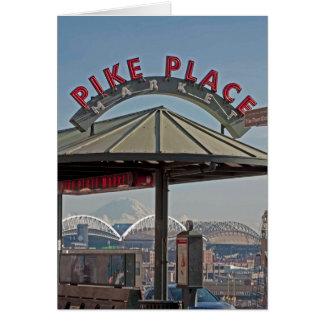 Pike-Platz-Markt in Seattle, WA Grußkarte