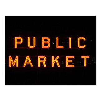 Pike-Platz-Markt nachts Postkarten