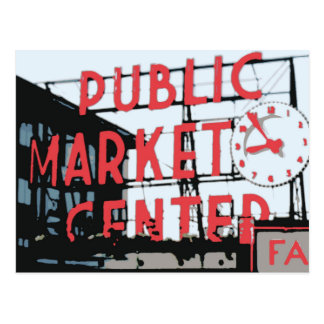 Pike-Platz-Markt Postkarten