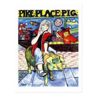Pike-Platz-Schwein Postkarten