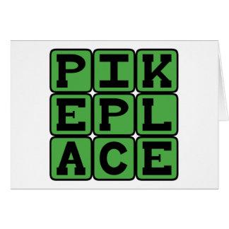 Pike-Platz, Seattle-Markt Grußkarte
