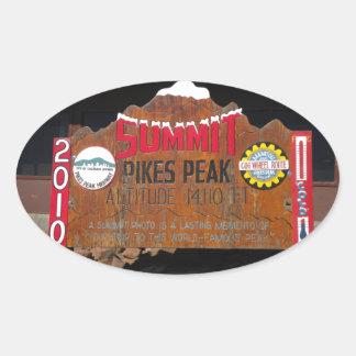 Pikes Höchstgipfel, Colorado Ovaler Aufkleber