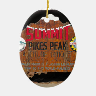 Pikes Höchstgipfel, Colorado Ovales Keramik Ornament