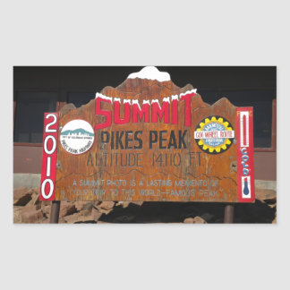 Pikes Höchstgipfel, Colorado Rechteckiger Aufkleber