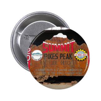 Pikes Höchstgipfel, Colorado Runder Button 5,1 Cm