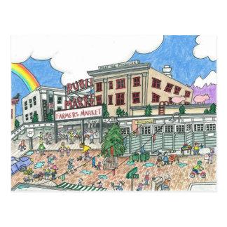 Pikes Marktplatz, Seattle, Washington Postkarte