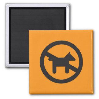 Piktogramm-Magnet, keine Hunde Quadratischer Magnet