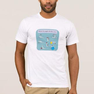 pilates für Weinliebhaber T-Shirt