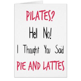 Pilates lustiges Zitat, Schwarzes und Rosa Grußkarte