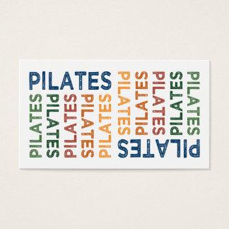 Pilates niedliches buntes visitenkarten