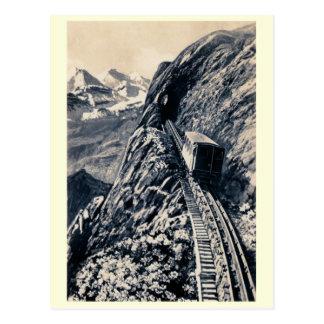 Pilatus steilste Gebirgsgestelleisenbahn Postkarte