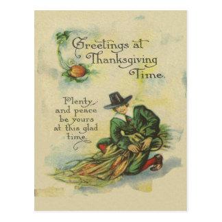 Pilger-Erntedank-Grüße Postkarte
