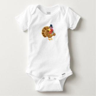 Pilger-Hut-Erntedank-Cartoon die Türkei Baby Strampler
