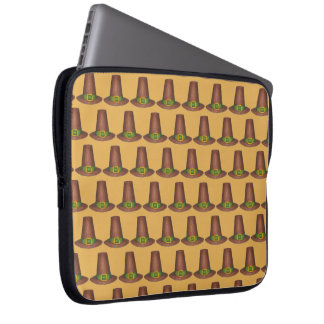 Pilger-Puritaner-Hut-glücklicher Laptop Sleeve