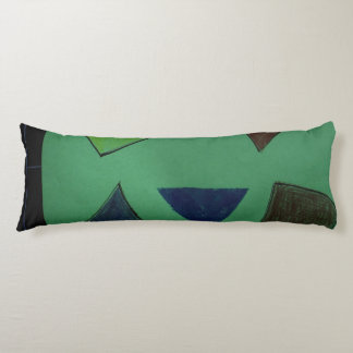 Pillow Enge und lang mit den grünen und Seitenschläferkissen