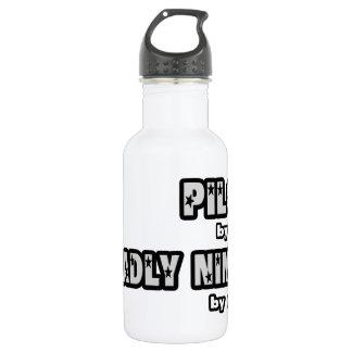 Pilot bis zum Tag… tot Ninja bis zum Nacht Trinkflasche