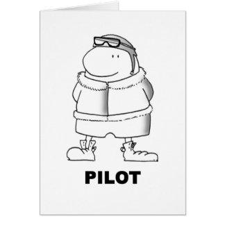 Pilot Grußkarte