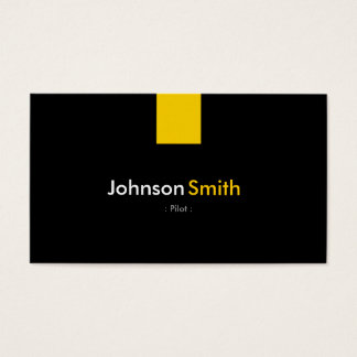 Pilot - modernes bernsteinfarbiges Gelb Visitenkarte