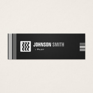Pilot - städtisches Schwarz-weißes Mini Visitenkarte