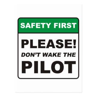 Pilot/wecken Postkarte