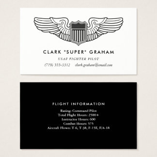 Pilot Wings berufliche Flieger-Geschäfts-Karte Visitenkarte