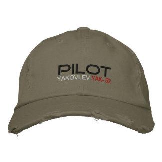 Pilot YAK-52 Bestickte Kappe