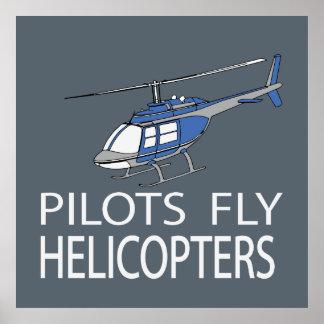 Piloten fliegen Hubschrauber Poster