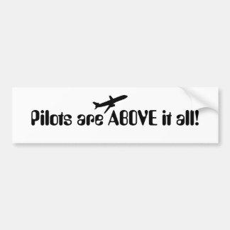 Piloten oben autoaufkleber