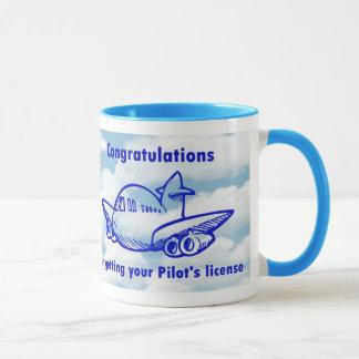 Pilotlizenz. Erhalten Ihrer Flügel. Glückwunsch Tasse