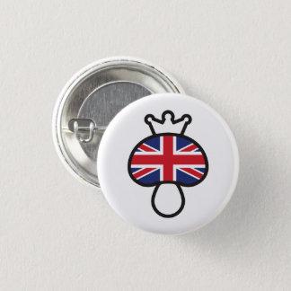 Pilz-Briten-Flagge Runder Button 3,2 Cm