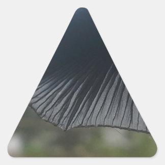 Pilz Dreieckiger Aufkleber