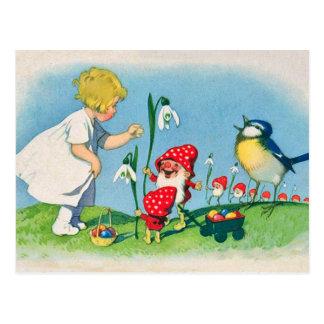 Pilz-Elf-Ostern-Postkarte Postkarte