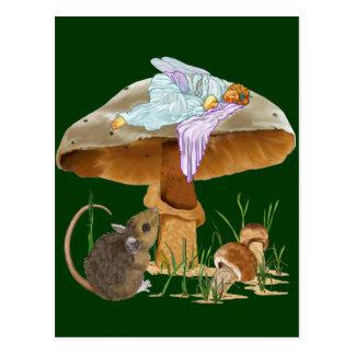 Pilz-Fee u. Maus Postkarte