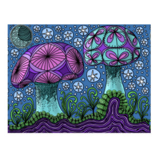 Pilz-Galaxie-Postkarte Postkarte