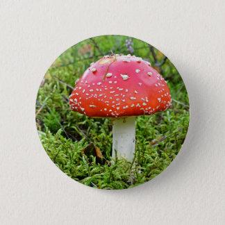 Pilz im Wald Runder Button 5,1 Cm