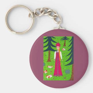Pilz-Wald Keychain Schlüsselanhänger