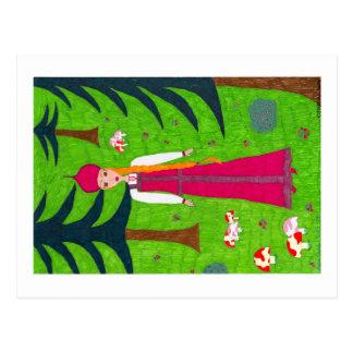 Pilz-Waldpostkarte Postkarte