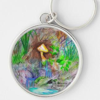 Pilz-Wasserfall Keychain Schlüsselanhänger
