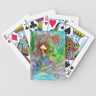 Pilz-Wasserfall-Spielkarten Bicycle Spielkarten