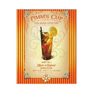 Pimm's-Cocktail Gespannte Galeriedrucke