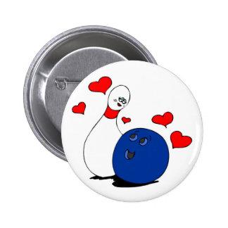 Pin der Knopf-Valentinsgrüße der Bowlingund Ball Anstecknadelbutton
