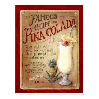 Pina colada Rezept Postkarte