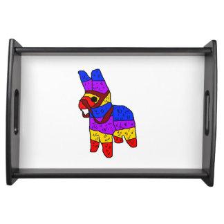Piñata Cartoon-Mexiko-Fiesta-Pferd Tablett